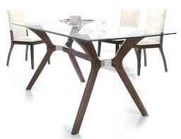 wood dining table with glass top stylish wooden and clear glass top leather dining set glass wood dining table