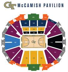 Mens Basketball Seating Georgia Tech Yellow Jackets