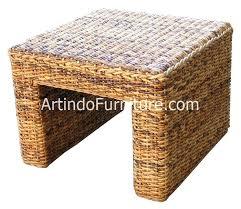 home rattan furniture table round banana leaf coffee