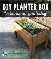 diy planter box tutorial garden boxes