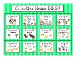 Chart Of Collective Noun L 2 1 A Collective Nouns Bingo Games
