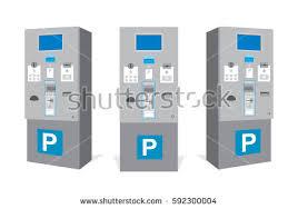 Parking Vending Machine Fascinating Parking Ticket Machine Garage Set Parking Stock Vector Royalty Free