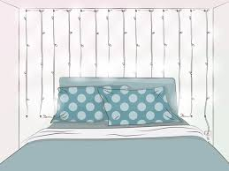 How To Hang Up Fairy Lights In Your Bedroom 3 Ways To Hang String Lights From The Ceiling Wikihow