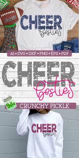 Cute Cheer T Shirt Designs Cheer Besties Distressed Cute Cheer Shirts Cheerleading