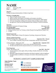 Sample Cna Resume Experience Resumes