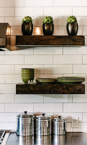 The Range Floating Shelves Chunky Wood Shelves Transitional kitchen Van Wicklen Design 2