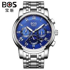 bos brand watches men good quality mens automatic watch mechanical bos brand watches men good quality mens automatic watch mechanical stainless steel waterproof luminous moon phase men s watches