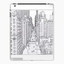 The next step is to add a filter. Adult Coloring Pages New York Ipad Case Skin By Yuna26 Redbubble