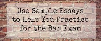 Bar Exam Essays List Of Sources For Sample Bar Exam Essays