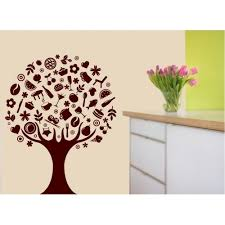 on wall art pictures of food with kitchen tree food vinyl decal wall art cafe sticker wa24