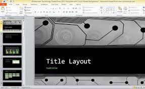 Powerpoint Circuit Theme Widescreen Technology Powerpoint 2013 Template With Circuit