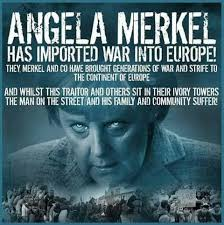 Image result for Angela merkel has imported war into Europe