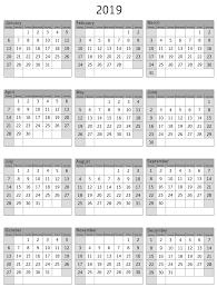 print a calendar 2019 print calendar 2019 free best calendar printable pdf template