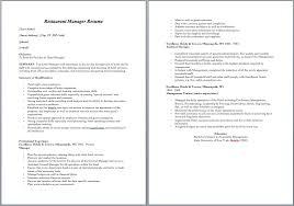 Restaurant Manager Resume Sample Gorgeous 44 Free Restaurant Manager Resume Samples Sample Resumes