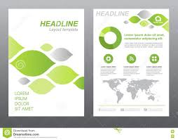 leaves template green document layout stock photo image  layout flyer template size a4 cover page green and gray leaf abstract vector design stock photo