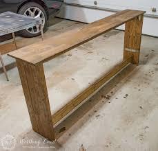 how to build rustic furniture. Build Rustic Furniture. How To A Sofa Console Table Furniture Y