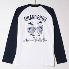 5 6oz Raglan L S T Shirts Mr T Mr Y Body Color White Navy Print
