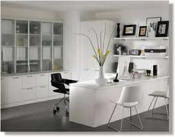 White Contemporary Executive Office Furniture Into The Glass