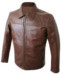 leather biker retro jacket in tan brown for men looking for the latest italian style british