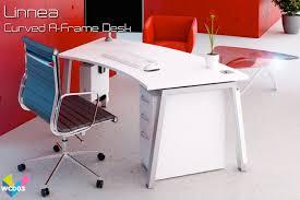 white corner desks 03 linnea curved desk