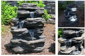 diy solar powered water fountain best battery powered outdoor fountain 15 self contained water