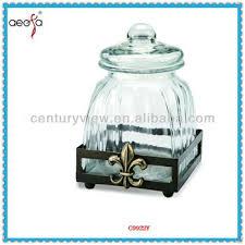 Decorative Glass Jars Wholesale Fleur De Lis Shaped Glass Jars For Food Wholesale For Sale With 63