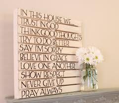 diy text wall art