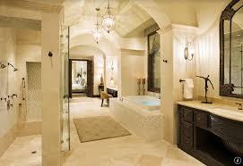 mediterranean master bathroom with archway ceiling dropin tub and walkin showerzillow digs traditional c9 bathroom