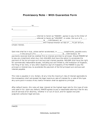 Promissory Note Sample Template Sample Of Promising Note New Free Promissory Note With Guarantee 18