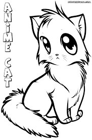 Anime Cat Coloring Pages Coloring Pages To Download And Print