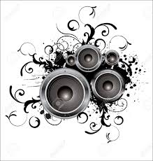 dj speakers vector. pin drawn musical dj speaker #7 speakers vector