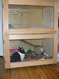 rabbit house plans. Build An Indoor Rabbit Cage House Plans