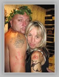Velká Pauta Z Horního Rozmyšlu Společné Foto Tetování