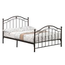 GreenHome123 Bronze Finish Metal Platform Bed Frame with Headboard