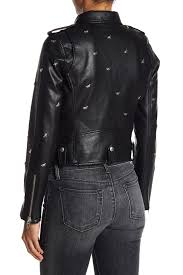 blanknyc denim dragonfly stud moto faux leather jacket nordstrom rack