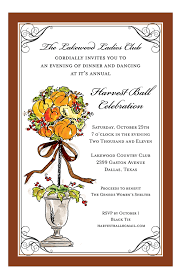 Thanksgiving Invites Autumnal Fall Topiary Invitation