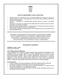 management executive  sales  amp  operations  resumefree resume templates