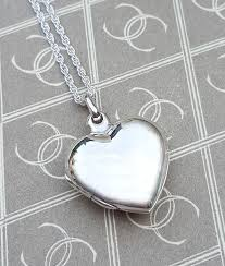 personalised sterling silver heart shaped locket necklace chains of gold