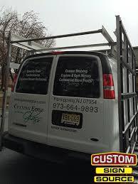 cutting edge glass van graphics by custom sign source morris county nj