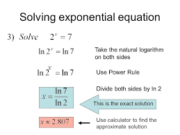 solving exponential equation