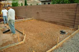 Making Cement Forms Concrete Patio Project Backyard Landscaping Update