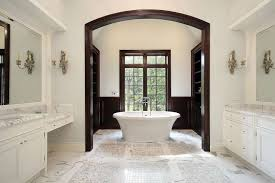 freestanding tub in adjoining room