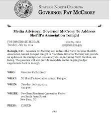 Media Advisory Mccrorys Last Minute Media Advisory Update On Budget Negotiations
