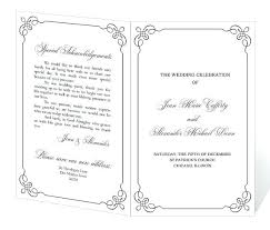 Sample Wedding Programs Templates Free Template For Wedding Programs Velorunfestival Com