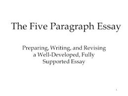 5 Paragraph Essay Examples Essay Paragraph Format Five Paragraph Essay Example When Would A 5