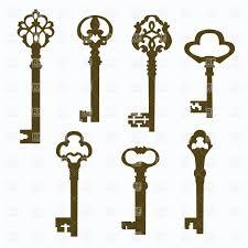 house key outline. Door Keys With Ornate Handles House Key Outline