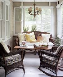 covered porch furniture. brown wicker in an enclosed porch covered furniture