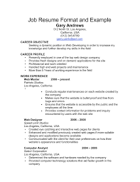 Resume Example For Jobs resume order of work experience order on resume resume for study 40
