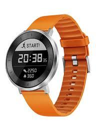 smart fitness watch orange grey