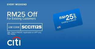 lazada get rm25 off with citibank card